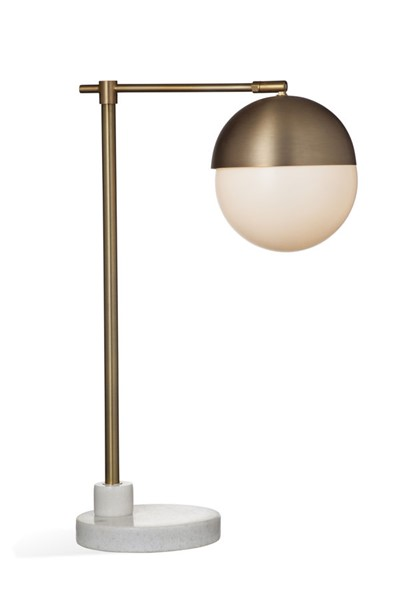 Bassett Mirror Ceres Brown Brass White Table Lamp BMC-L3690T