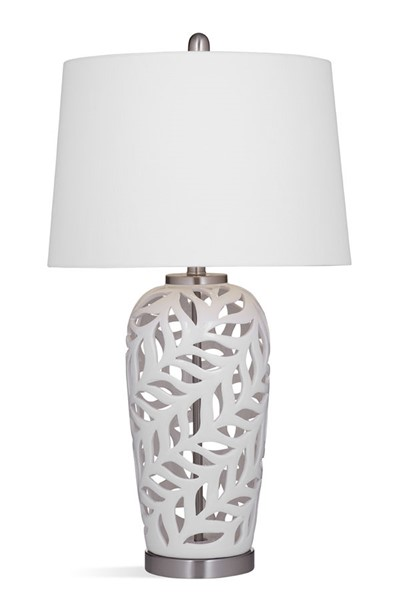 Bassett Mirror Willow White Table Lamp BMC-L3708T