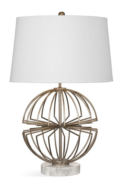 Bassett Mirror Spindle Champagne Gold Table Lamp BMC-L3722T