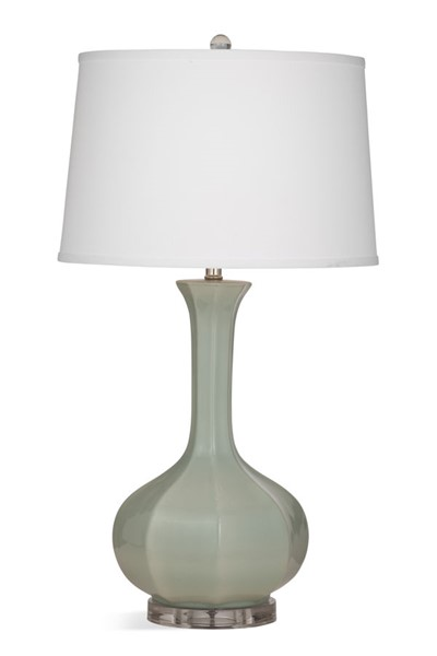 Bassett Mirror Shelley White Linen Table Lamp BMC-L3785T