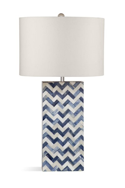 Bassett Mirror Dunmore White Blue Bone Table Lamp BMC-L3796T