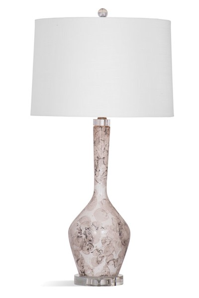 Bassett Mirror Everette Cream Brown Table Lamp BMC-L3823TEC