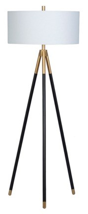 Bassett Mirror Rowe Black Gold Floor Lamp BMC-L3824F