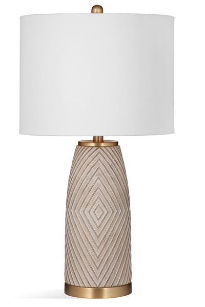 Bassett Mirror Becky Beige Table Lamp BMC-L4009TEC