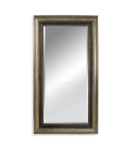 Bassett Mirror Garlindo Antique Silver Old World Wood Leaner Mirror BMC-M2633BEC