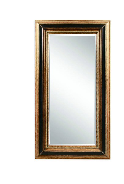 Vallejo Antique Gold Ebony Old World Wood Leaner Mirror BMC-M3045BEC