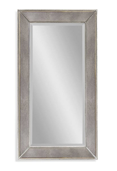 Beaded Hollywood Glam Wood Rectangle Wall Mirror W/Frame BMC-M3340BEC