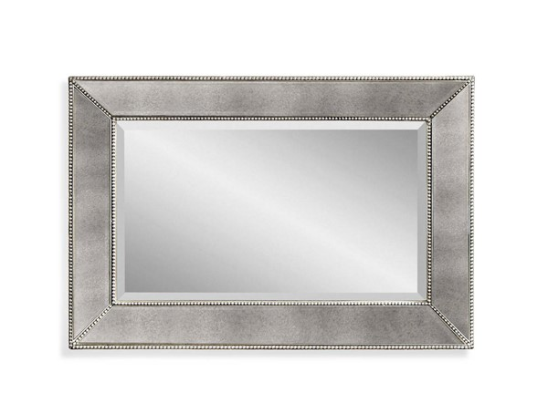 Beaded Hollywood Glam Wood Rectangle Wall Mirror BMC-M3341BEC