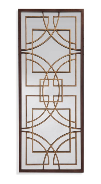 Bassett Mirror Osburn Old World Bronze Metal Wall Mirror BMC-M3576EC