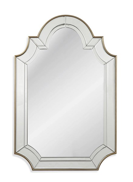 Bassett Mirror Phaedra Old World Champagne Wall Mirror (L 30 x H 46) BMC-M3676EC