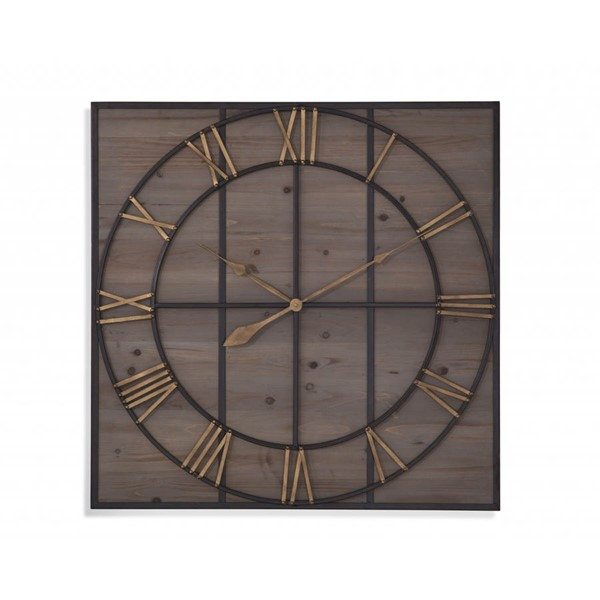 Bassett Mirror Eldridge Bronze Natural Wall Clock BMC-MC4019EC