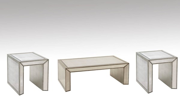 Marvelous Bassett Mirror Murano Hollywood Glam 3pc Rectangle Coffee Table Set