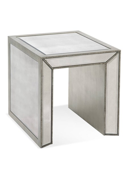 Murano Hollywood Glam Antique Mirror Rectangle End Table BMC-T2624-200EC