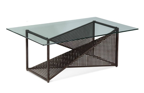 Bolton Modern Glass Steel Rectangle Cocktail Table BMC-T2808-100B-TEC