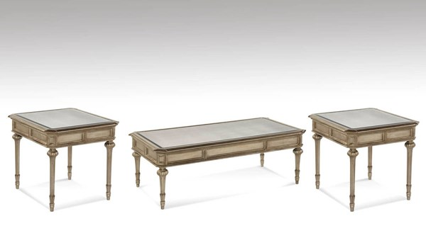 Palazzina Hollywood Glam Champagne Silver 3pc Coffee Table Set BMC-T2815-CT-S