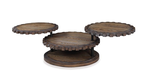 Sprockets Modern Weathered Oak Wood Cocktail Table BMC-T2817-120EC