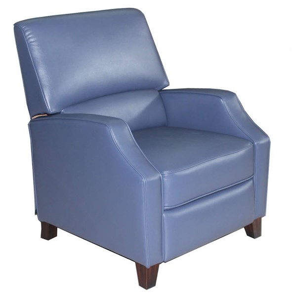 Ginny Transitional Blanche Navy Leather Gel Recliner BRC-7-3047-2110-45