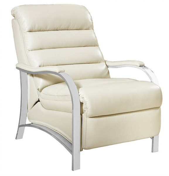 Chapman Contemporary Cashmere White Leather Recliner BRC-7-3053-5512-80