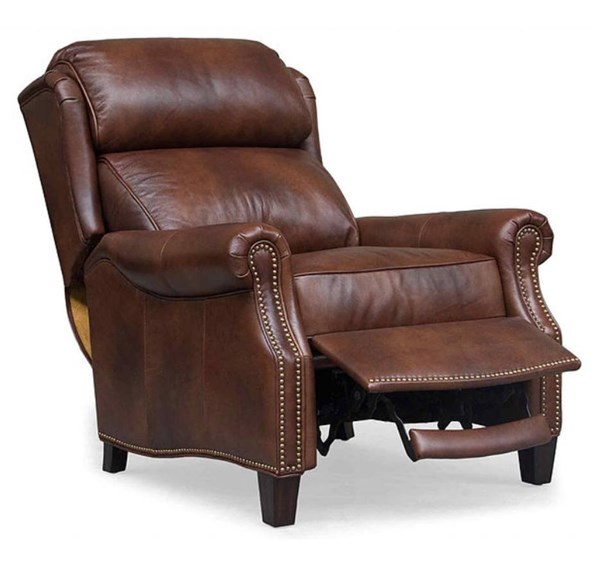 Meade Traditional Worthington Cognac Leather Recliner BRC-7-3058-5460-85
