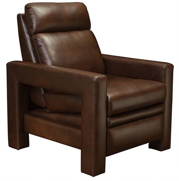 Lucie Modern Blanche Brown Leather Gel Recliner BRC-7-3061-2110-86