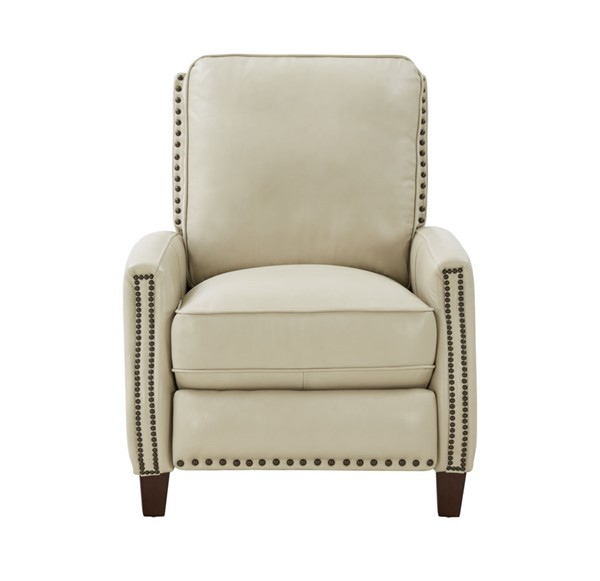 Barcalounger Melrose Barone Parchment Leather Recliner BRC-73155570881