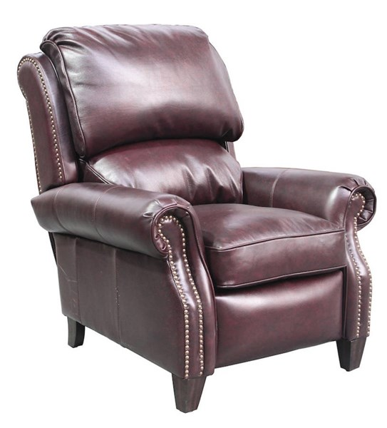 Churchill Classic Chateau Bordeaux Leather Push Thru The Arms Recliner BRC-7-4440-5443-85