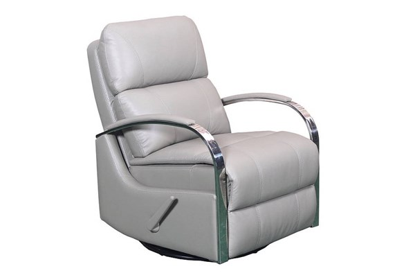 Regal Contemporary Lavin Ash Leather Swivel Glider Recliner BRC-8-4010-5524-93