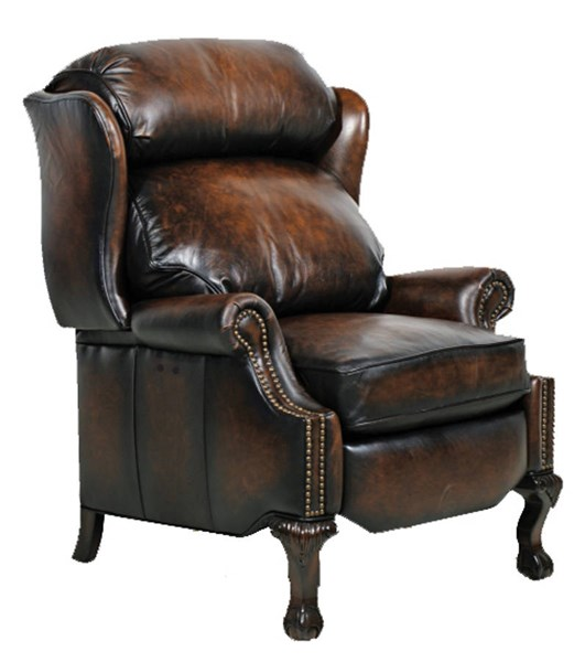 Danbury Traditional Stetson Coffee Leather Power Recliner BRC-9-4199-5407-41