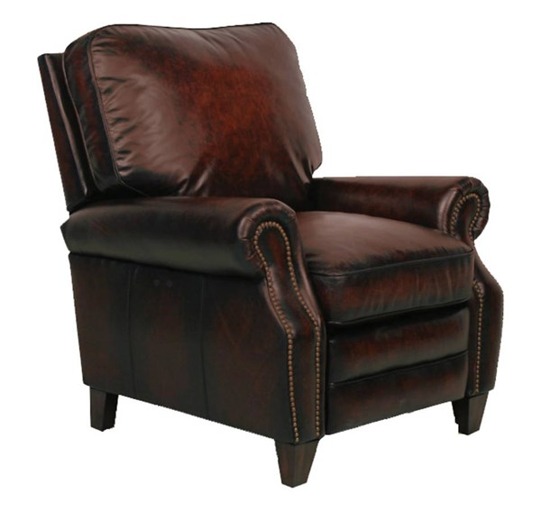 Briarwood Traditional Stetson Bordeaux Leather Power Recliner BRC-9-4490-5407-17