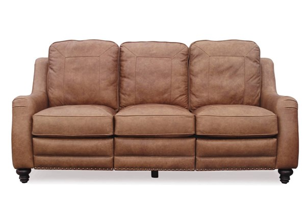 Abigail Transitional Sanded Top Grain Leather Power Recliner Sofa BRC-39-2188-5621-85