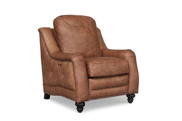 Abigail Transitional Sanded Top Grain Leather Power Recliner BRC-9-2188-5621-85