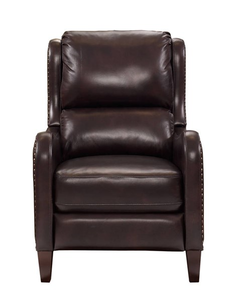 Addison Transitional Effie Coffee Leather Push Thru The Arms Recliner BRC-7-3029-5622-88
