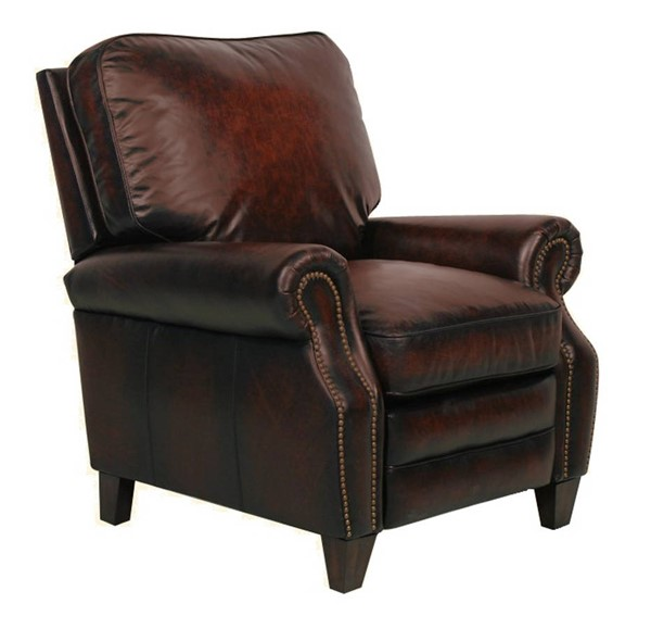 Briarwood Traditional Stetson Bordeaux Leather Recliner BRC-7-4490-5407-17