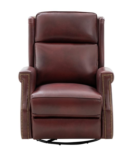 Barcalounger Brookmore Emerson Sangria Top Grain Leather Swivel Glider Recliner BRC-8PH4000571076