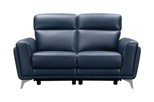 Barcalounger Cameron Marco Navy Blue Leather Match Power Reclining Loveseat BRC-29PH3082373145