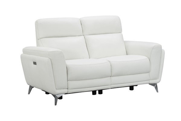 Barcalounger Cameron Enzo Winter White Leather Match Power Reclining Loveseat BRC-29PH3082373280