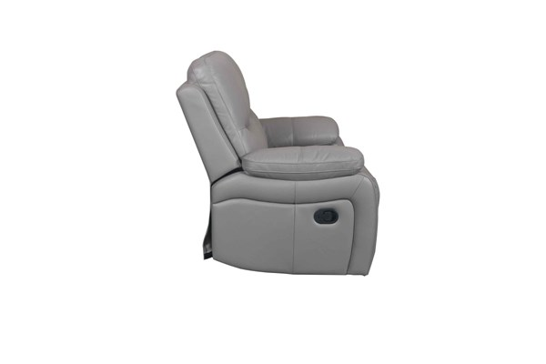Carter Contemporary Lavin Ash Leather Match Power Recliner BRC-9-3070-3524-93
