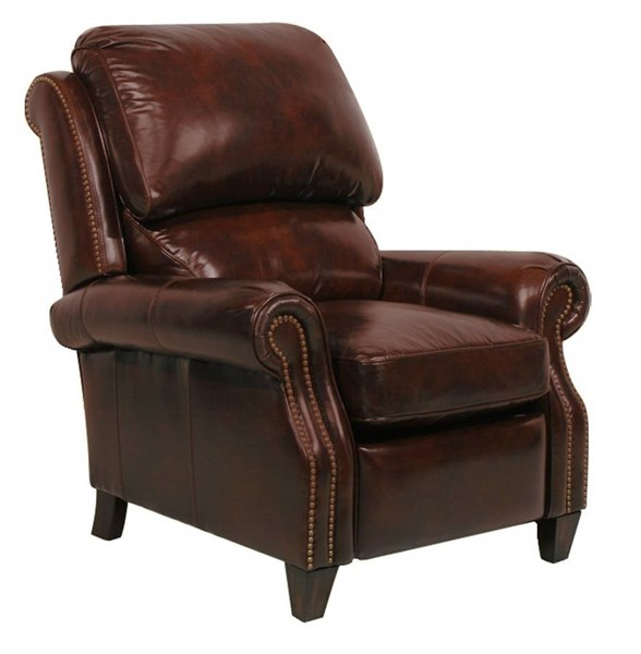 Churchill Traditional Double Fudge Leather Seat Cushions Recliner BRC-7-4440-5404-41