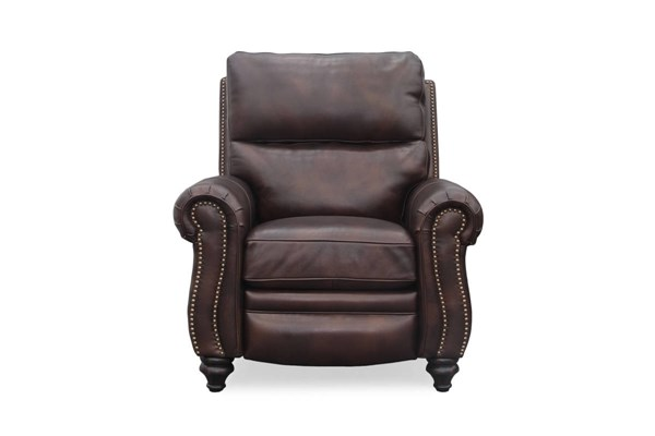 Dalton Traditional Kerry Sable Leather Wood Legs Recliner BRC-7-4737-5619-86