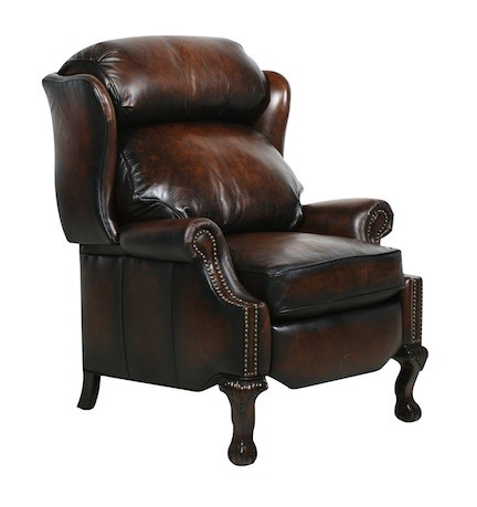 Danbury Traditional Stetson Coffee Leather Recliner BRC-7-4199-5407-41