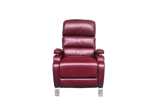 Giovanni Contemporary Corolla Rouge Leather Match Recliner BRC-7-4405-3493-11