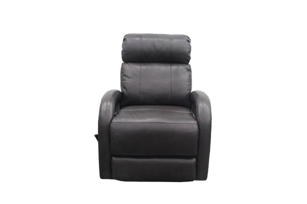 Harvey Contemporary Wrenn Gray Leather Match Swivel Glider Recliner BRC-8-4407-3494-92