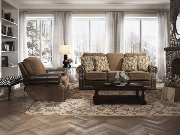 Jefferson Yadkin Bark Leather Power Living Room Set BRC-JEFFERSON-LR