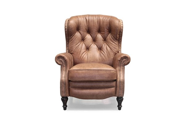 Kendall Traditional Sanded Bomber Grain Leather Recliner BRC-7-4733-5621-85