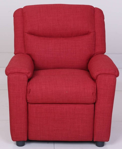 Kiley Dum Dum Cherry PU Kids Push Thru The Arms Recliner BRC-7-3012-2201-72
