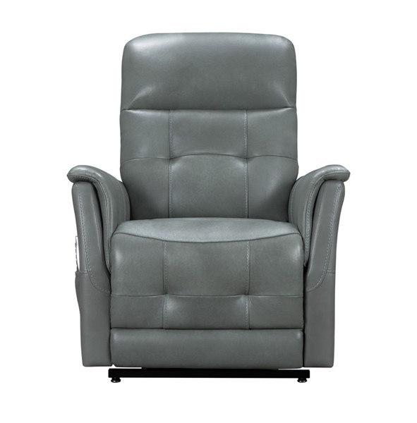 Barcalounger Livingston Antonio Green Gray Leather Match Lift Chair Recliner BRC-23PHL3084373427