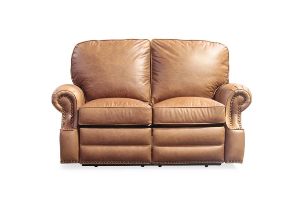 Longhorn Traditional Chaps Saddle Top Grain Leather Recline Loveseat BRC-25-4727-5401-16