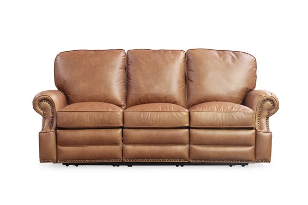 Longhorn Traditional Chaps Saddle Top Grain Leather Reclining Sofa BRC-35-4727-5401-16