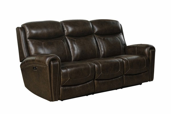 Barcalounger Malibu Tri Tone Chocolate Power Reclining Sofa with Headrest BRC-39PH3641371386