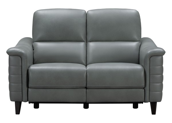 Barcalounger Malone Antonio Green Gray Leather Match Power Reclining Loveseat BRC-29PH3081373427